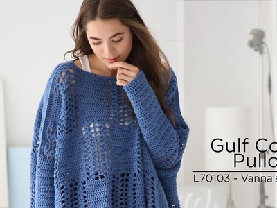 Gulf Coast Pullover crocheted with Vanna's Style