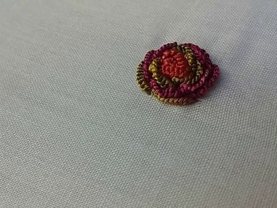 Hand Embroidery: Gulaab Stage. Rose stage stitch