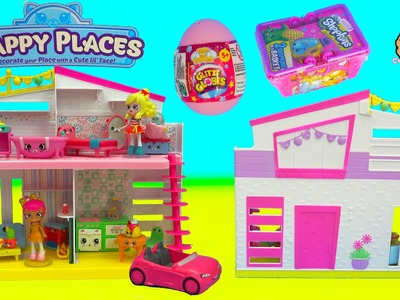 Happy Places Home Playset Exclusive Popette Shoppies Mini Doll + Shopkins Petkins