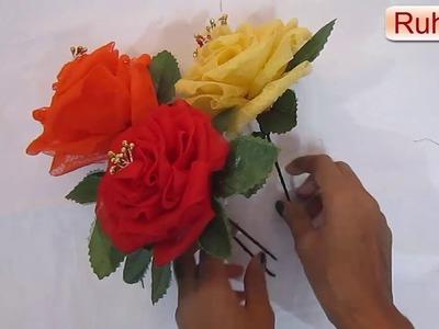 HM Organdy flowers with organdy cloth    Cloth flowers