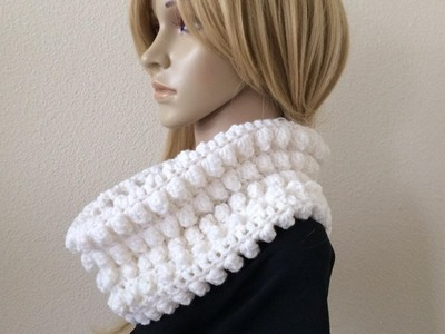 How To Crochet A Popcorn Stitch Cowl, Lilu's Handmade Corner Video # 185