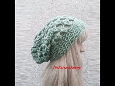 How to Crochet a Slouchy Hat Pattern #38│by ThePatternfamily