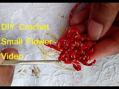 How to Crochet Small Flower using Single Crochet and Chain Stitch- DIY Crochet for Beginners