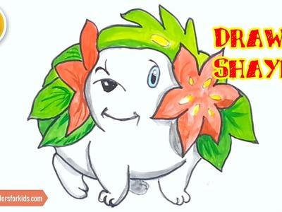 How to Draw Shaymin, Pokemons Characters #54