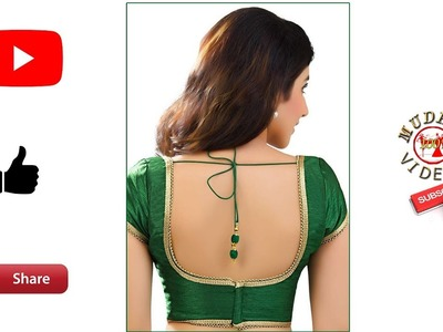 How to increase and decrease blouse back neck deep # blouse alterations # blouse fittings # part 116
