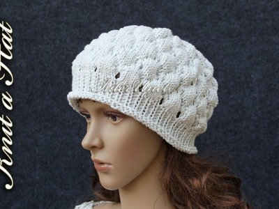 How to knit a hat – bobble stitch hat knitting pattern