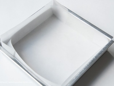 How to Line a Square Baking Pan with Parchment Paper