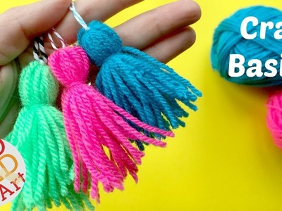 How to make a Tassel  - Quick & Easy Yarn Tassel DIY - CRAFT BASICS