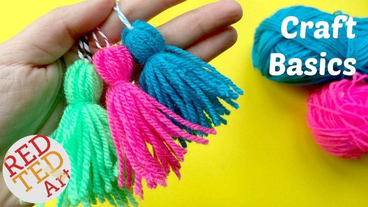 How to make a Tassel  - Quick & Easy Yarn Tassel DIY - CRAFT BASICS