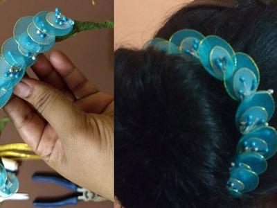 How to make hair brooch at home   hair brooch for wedding   hair brooch making