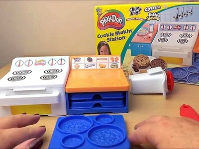 How To make Oreo American Cookies with the Play-Doh Dough Cookie Making Station