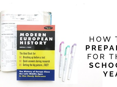 How to Prepare for the School Year