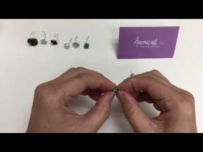 How to Set Beads and Beach Glass into Earrings