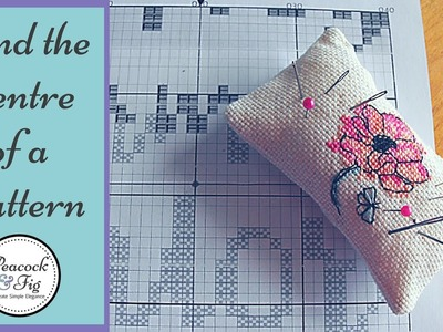 How to start a cross stitch pattern -- finding the center