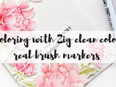 How to watercolor with zig clean color real brush markers markers