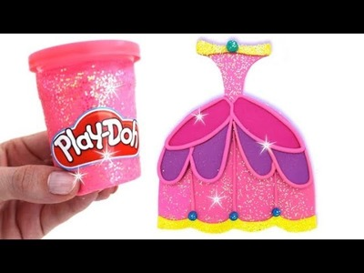 Learn Colors Play Doh Making Colorful Disney Princess Dress Surprise Toys