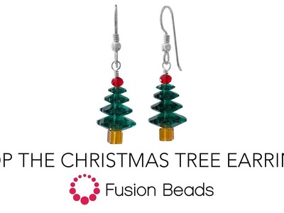 Learn how to make the Atop the Christmas Tree Earrings by Fusion Beads