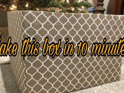 MAKE A FABRIC COVERED BOX IN LESS THAN 10 MINUTES