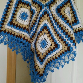 Multi-Color Home Made Shawl