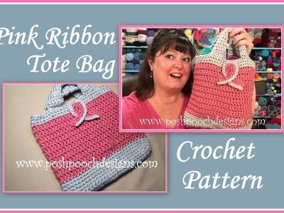 Pink Ribbon Tote Bag Crochet Pattern