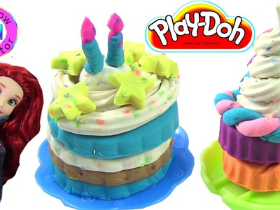 Play-Doh Cake Party With Ariel and One of the Sparkle Girlz by Rainbow Collector