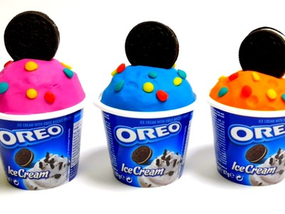 Play-Doh Oreo Ice Cream Cups with Surprise Egg Toys
