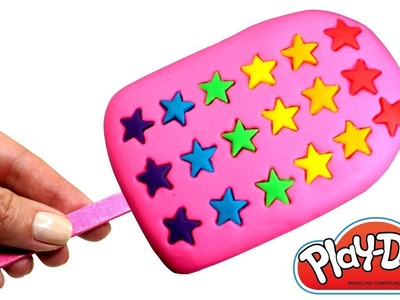 Play Doh Rainbow Stars Popsicle How to Make Play Doh Ice Cream Learn Colors Creative Fun for Kids