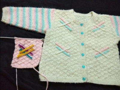 7d2a48177dffc Readymade look baby sweater in hindi with written pattern