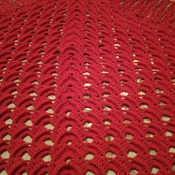 Red Home Made Shawl