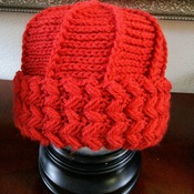 Scarlet Red Home Made Hat