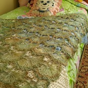 Sea-Side Green Home Made Shawl