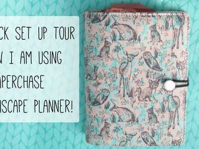 Set up. How I am using my Paperchase Dreamscape Planner