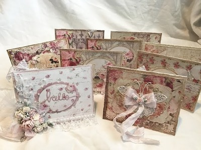 Shabby Chic Notecards and Altered Clothespins