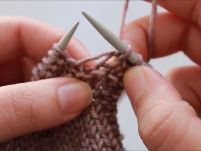 Stitch Tutorial: KB (knit below)
