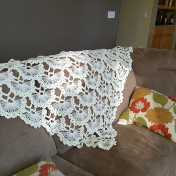 Sun-Shine Bright Home Made Shawl