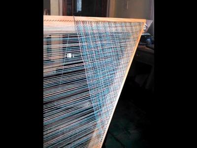 Weaving on a 7 foot triangular loom