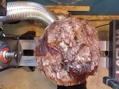 Woodturning Big Cherry Burl. Epoxy