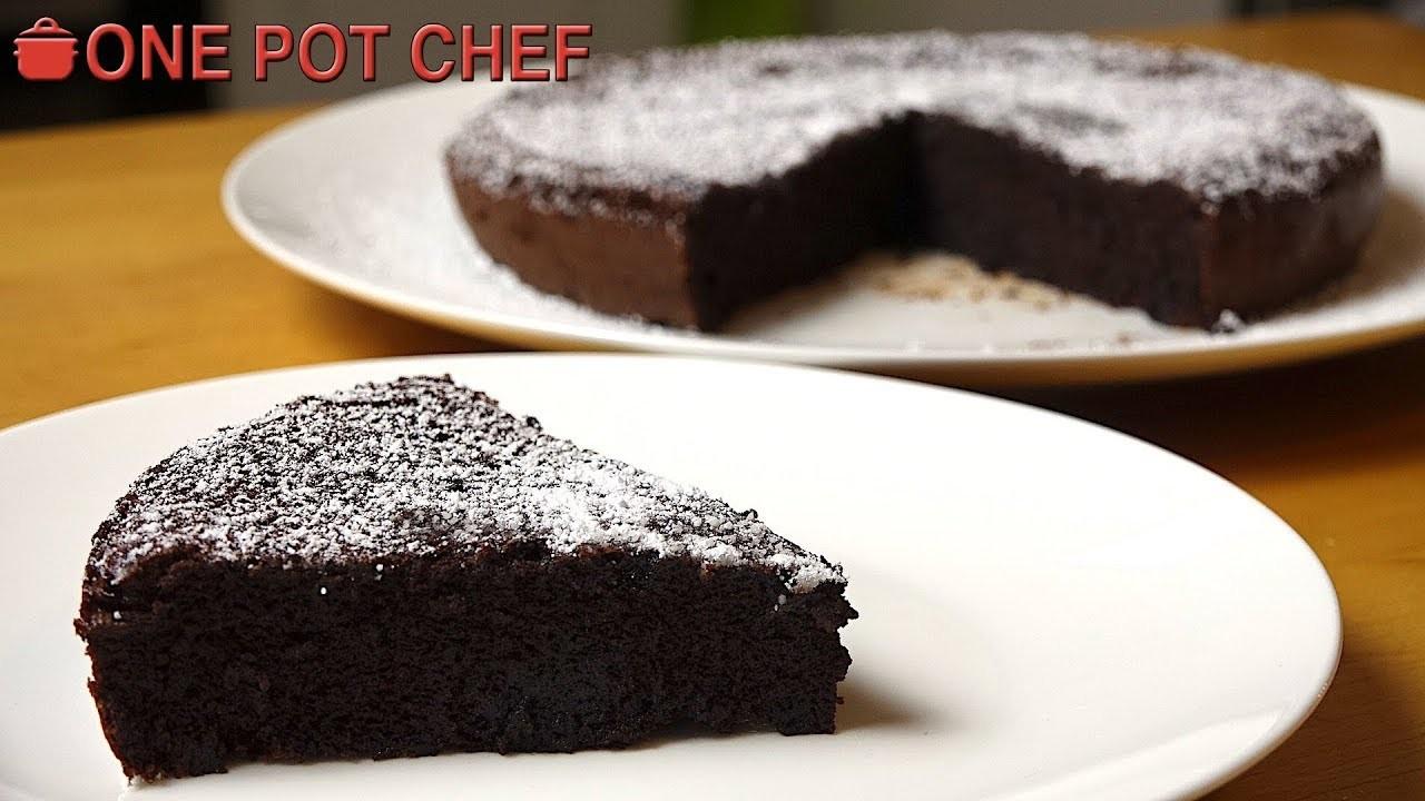 2 Ingredient Chocolate Cake   One Pot Chef