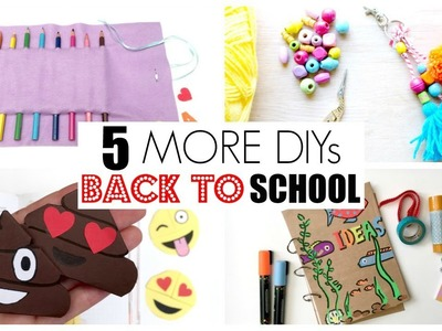 5 BEST Back to School DIYs Part 2 - MUST SEE School Supplies - LOVE these ideas