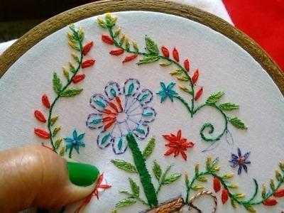 8- Beautiful motif from simple basic stiches (Hindi.Urdu)