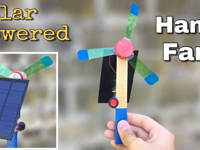 Amazing idea - How to Make a Solar Powered Hand Fan