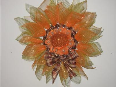 Carmen's Elegant Pumpkin Flower Using Only ZipTies