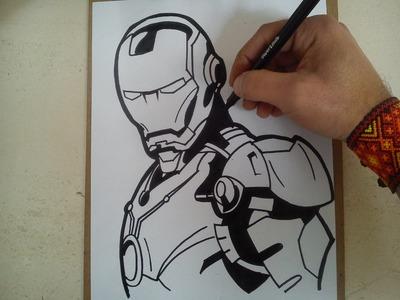 Como dibujar a iron man (civil war). HOW TO DRAW A IRON MAN (CIVIL WAR)