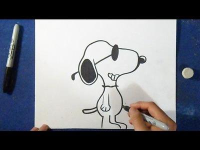 Cómo dibujar a Snoopy 3 | How to Draw Snoopy