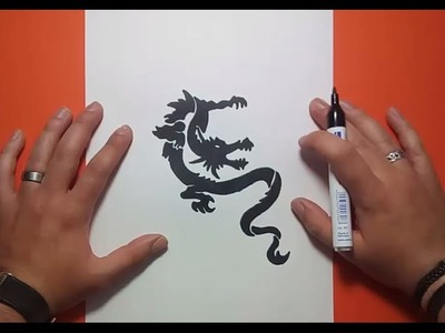 Como dibujar un dragon tribal paso a paso 5 | How to draw a tribal dragon 5