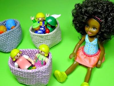 Diy baskets for Barbie │ How to crochet baskets for Barbie │ DIY For Dolls
