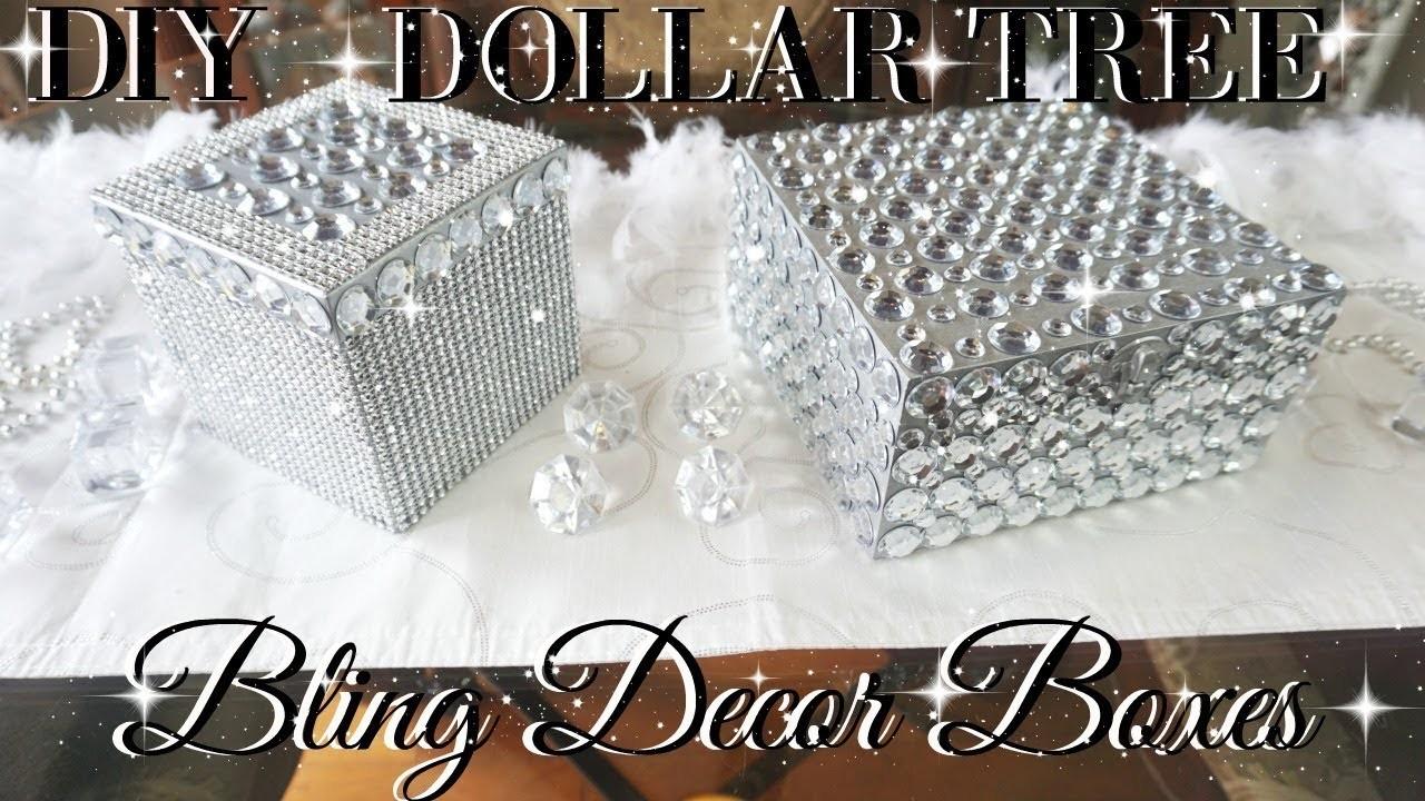 Diy dollar tree bling decor boxes dollar store diy for Bling decor