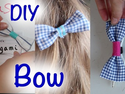 DIY | Fabric Bow | Magnet. Earphone Holder. Hairpin