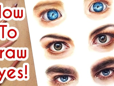DRAWING EYES PART 1! Coloured Pencil Drawing Tutorial Episode 6