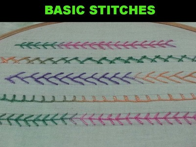 Hand embroidery.Basic Embroidery Stitches for Beginners.Embroidery work.Disha Handwork Gallery#15